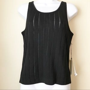 St. John Collection Black Tank Top Size Small Wool